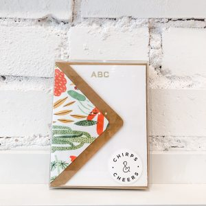Custom Hand-stamped Gold block monogram - 8 pack